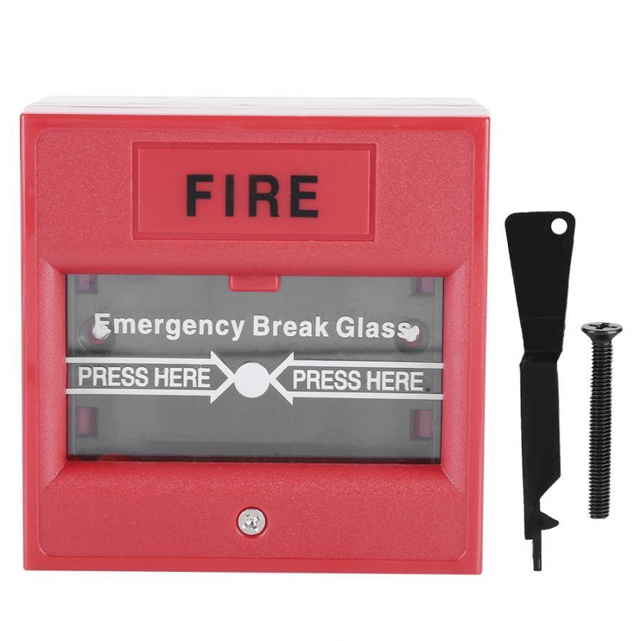 Salida de emergencia alarma de incendio soltar Botón de cristal de seguridad romper interruptor de alarma sos botón