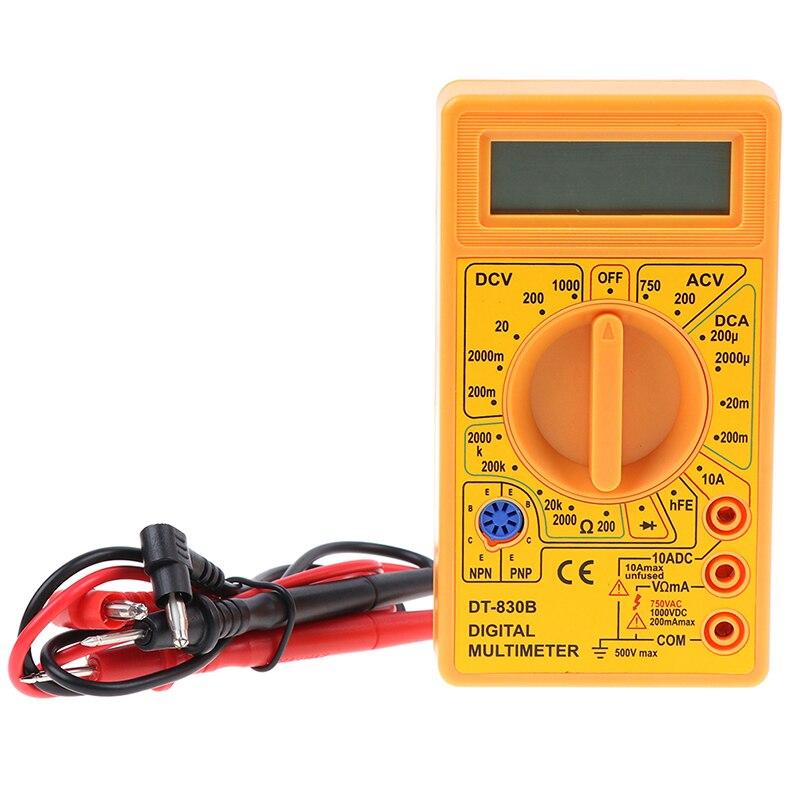 DT-830B Portátil Backlight Multímetro Digital AC/DC Amperímetro Voltímetro Ohm Tester Medidor Handheld LCD Multimetro