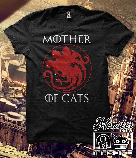 Cute  Women Tops & Tees Short Sleeved Plus Size Female T Shirts Women  T-shirts Mother of Cats harajuku Tees Tshirts