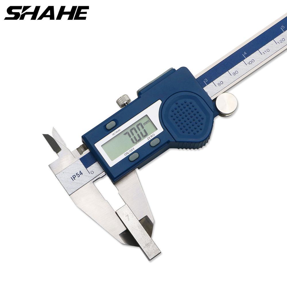 Shahe فرجار رقمي 150 مللي متر الإلكترونية الورنية الفرجار ميكرومتر Paquimetro الرقمية 150 مللي متر الفرجار الفولاذ المقاوم للصدأ