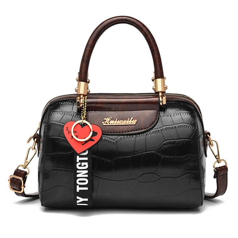 Vintage Stone Pattern Shoulder Crossbody Bags for Women 2021 Luxury Brand Designer Women's Handbags Female Pu Leather Tote Bag