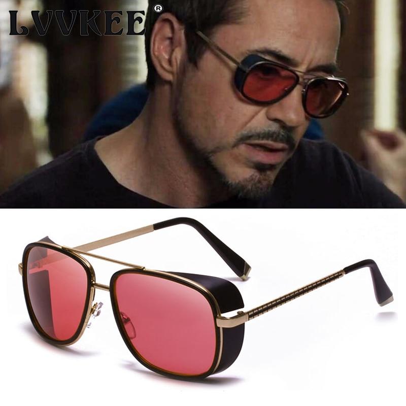 2020 novo homem de ferro 3 tony stark óculos de sol dos homens rossi revestimento retro vintage designer óculos uv400 oculos masculinos gafas