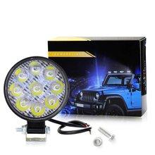 High-power Light Car Vehicle LED Work Light 27W 9 LEDs Motorcycle Lighting Inspection Off-road Spotlight