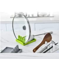 meijuner multifunctional spatula rack household spoon mat kitchen storage plastic pot cover rack holder