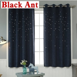 Зеленая занавеска с полыми звездами, однотонная занавеска на окно, для спальни, кухни, льняная занавеска для гостиной, тюль из белой прозрачной ткани, оттенок X370 #30