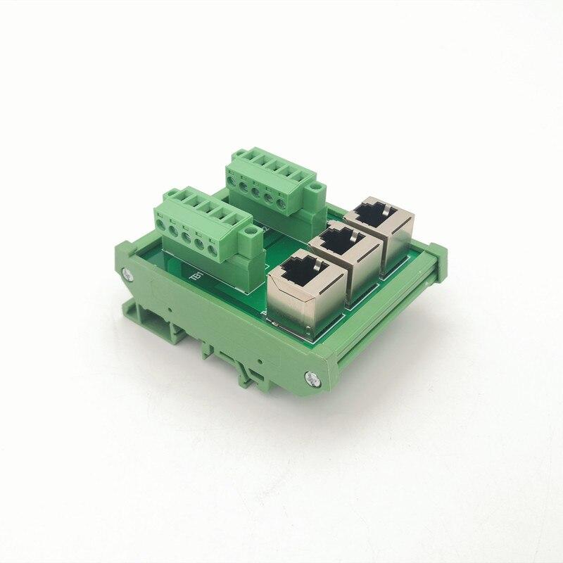 PLC الصناعية حافلة شبكة لوحة القطع ، PLC دعم IO محطة كتلة ، WL-TB-104.