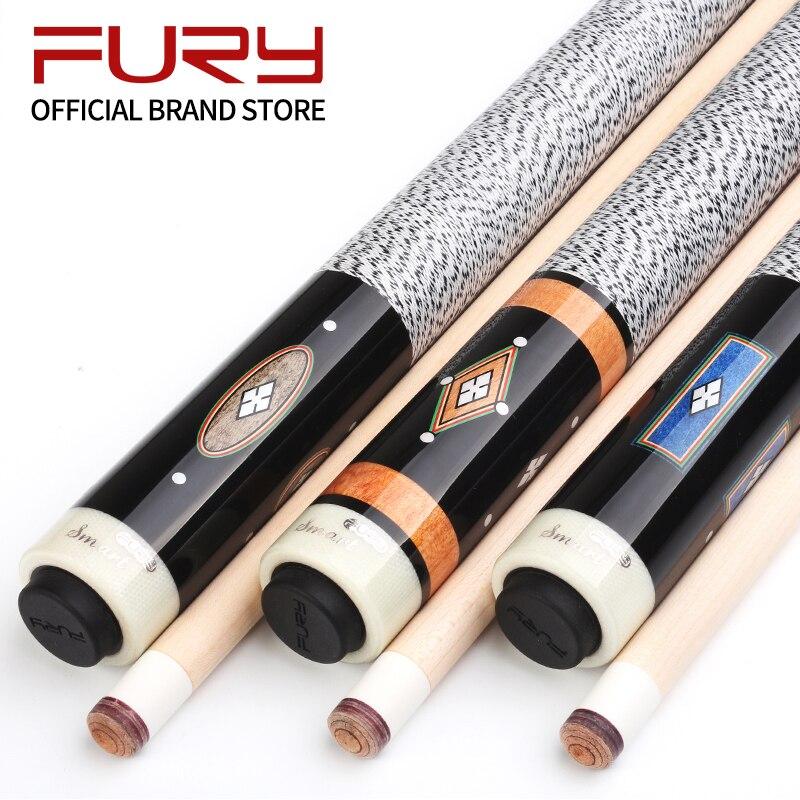 Fury billar taco palos de billar eje de arce norteamericano radial pin Junta tecnología diseño de calcomanía butt billar kit nueva llegada