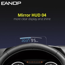 EANOP HUD Mirror 04 Car Head up Display OBD2 Windshield Speed Projector Security Alarm Water tempera