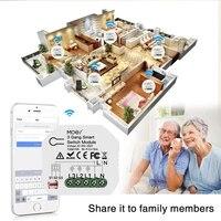 Mini Module declairage intelligent  wi-fi  3 gangs  1 2 voies  bricolage  application Tuya Smart Life  fonctionne avec Alexa Google Home