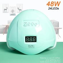 Nouveau produit 48W SUN5 vernis à ongles professionnel LED UV lampe à ongles durcissement tout Gel lampe de polissage lampe à ongles LED sèche-ongles lampe UV