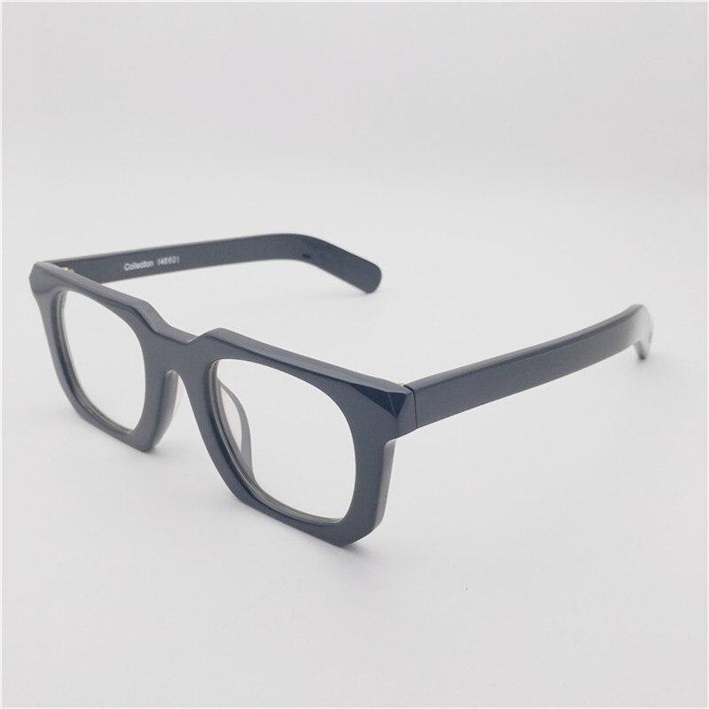Vazrobe النظارات السوداء إطار الذكور مربع نظارات الرجال نظارات سميكة لارتفاع عدد خمر الطالب الذي يذاكر كثيرا نظارات أزياء