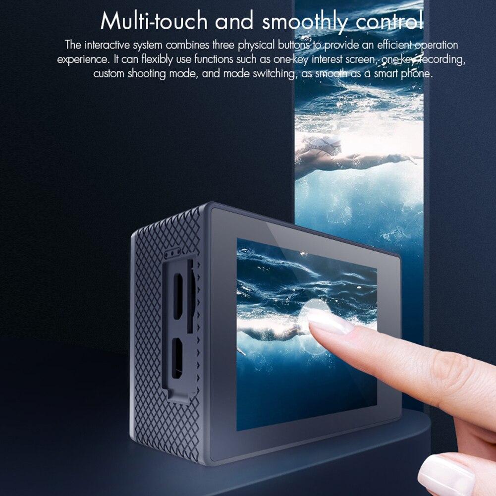 Câmera de Ação Leve à Prova Ultra Wifi Sensor 30atm Liberação Rápida Portátil Dlightpeso Água Mini Câmera Esporte hd 4k Imx386