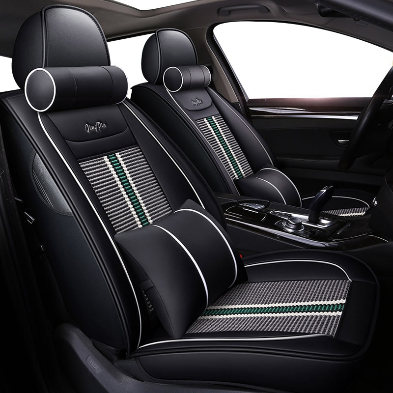 Universal Car seat covers For toyota auris 2008 prius v tundra prado 120 camry 40 land cruiser aygo fortuner rav4 2018 corolla
