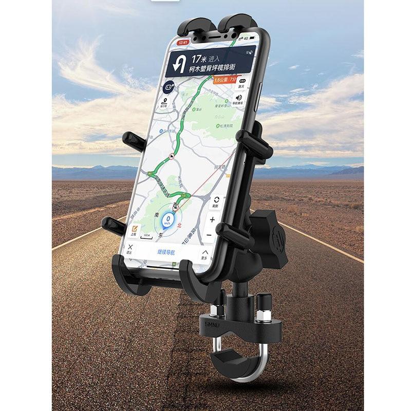 Suporte de celular para viagem, primeira escolha para motocicleta, para viagem, sistema de suporte de viagem, mais confortável, design de peixes com garra