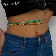 Waist Beads for Weight Loss Stretchy African Waist Chain Strand Waistband for Women Plus Size String