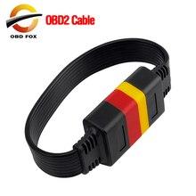 Универсальный 16 контактный Мужской до 16 контактный разъем OBD 2 OBD II разъем удлинителя для авто диагностический Удлинительный кабель