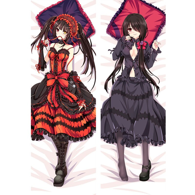 Anime Date A Live Tokisaki Kurumi Sexy Body Anime Girls Dakimakura Bedding Otaku Fujoshi Waifu Hugging Female Pillow Case Cover