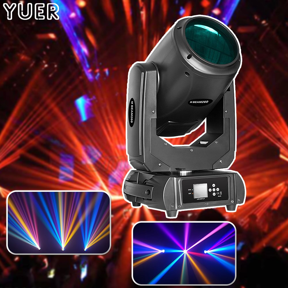 discount price 8 pack 180w 2r sharpy beam spot moving head light dmx512 for stage lighting dj disco club party dance wedding bar New Lyre Beam Spot 2IN1 Moving Head Light 260W 9R Stage Lighting DMX512 Beam 9R DJ Disco Light Party Color Music Club Bar Lights