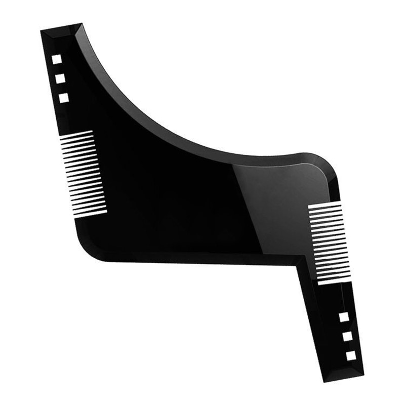1Pcs Beard Shaping Comb Styling Template Hair Brush for Trimmer Stencil Men Salon Tools