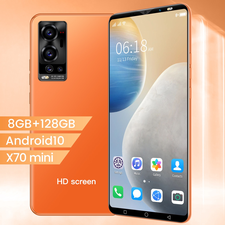 Hot Sale X70mini 5.1 inch HD+ Smartphone MTK6889 Cheap Mobile Phone 10-core 1080*2320 5G 6GB+128GB 24MP+48MP 4800mah Android 10