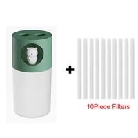 Humidificateur dair Portable a Double buse  avec filtres  diffuseur de parfum ultrasonique et dhuile essentielle  USB  270ml  10 pieces