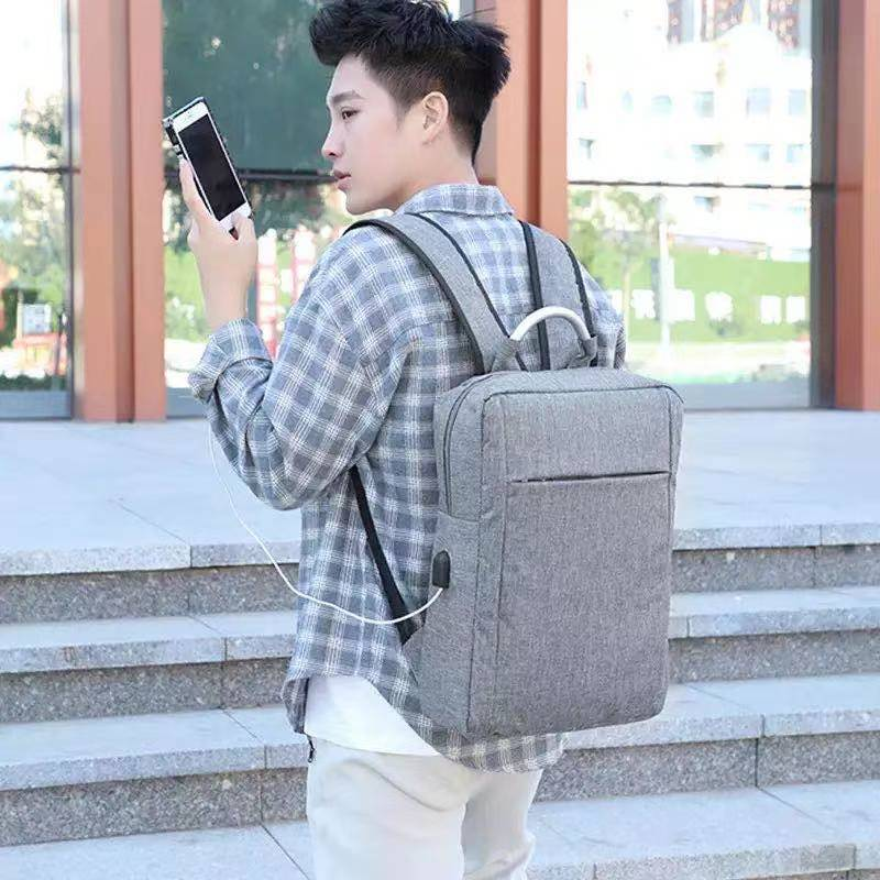 Men's Backpack Personalized Fashion Business Travel Business Trip Laptop USB Interface Backpack