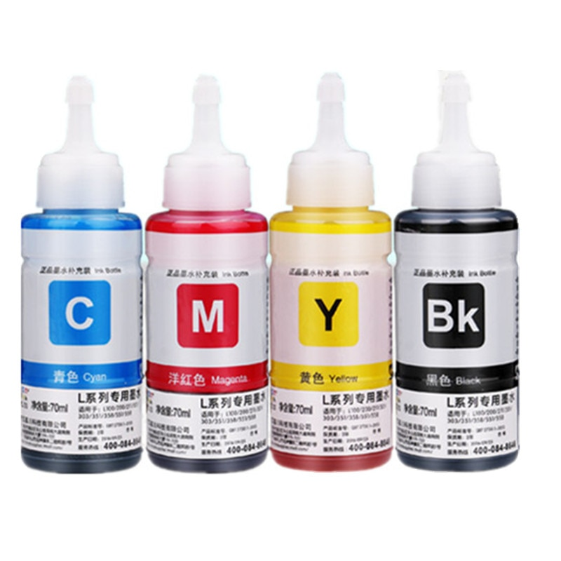Refill Ink kit DYE ink for Epson L100 L110 L120 L132 L210 L222 L300 L312 L355 L350 L362 L366 L550 L555 L566 printer недорого