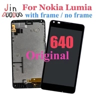 100 tested for microsoft nokia lumia 640 lcd display touch screen digitizer assembly with frame for nokia 640 lcd replacement