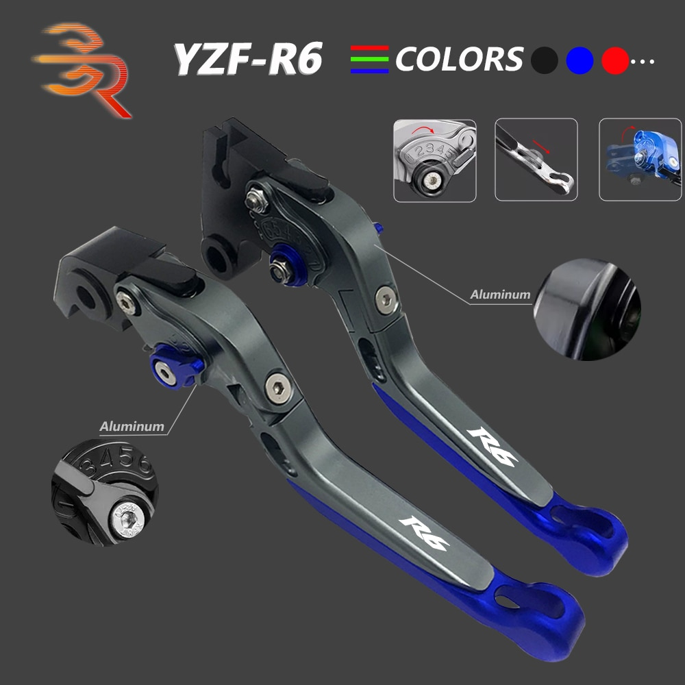 motorcycle cnc brake clutch levers w adjuster knobs for buell xb9 ulysses xb12x yamaha yzf 600 1000 r1 r6 mt 07 fz07 mt 09 fz09 YZF R6 2012 Brake Clutch Levers CNC Aluminum Adjustable Folding Extendable Motorcycle Accessories For Yamaha YZF-R6 2005-2016