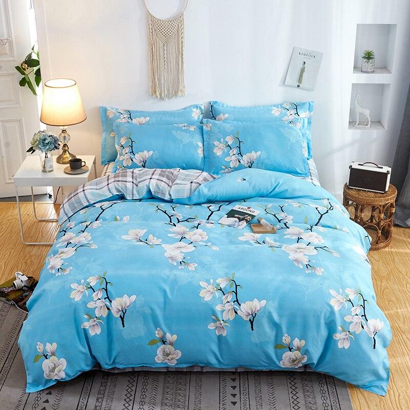 كومفورت 2 وسادة شمس ، 1 غطاء لحاف و 1 غطاء سرير كوين ، ، كينج ، التوأم ، كامل الحجم ، طقم سرير 4 في 1