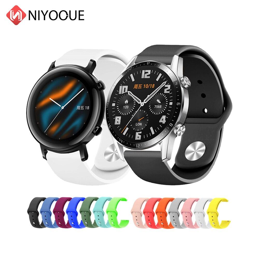 for Huawei Watch GT2 GT 2 GT 42mm 46mm Smart Watch 20mm watch strap Silicone Sport Replace Watchbands 22mm watch band bracelet недорого