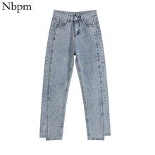 Nbpm 2021 Korean Fashion Woman Jeans Vintage Jeans Denim Trousers Wide Leg Jeans Woman High Waist Pa