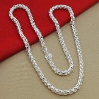 925 sterling silver 5mm round box chain 182024 inch necklace for woman men fashion wedding engagement charm jewelry