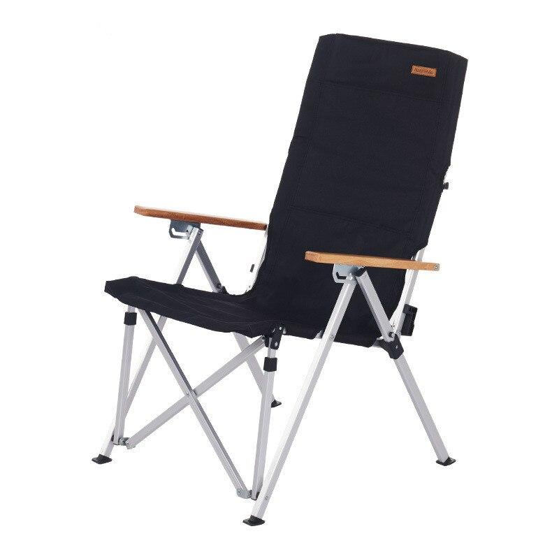 Silla de camping plegable portátil, ultraliviana y barata, de aleación de aluminio 600D, tela Oxford con carga de 120kg con bolsa de almacenamiento