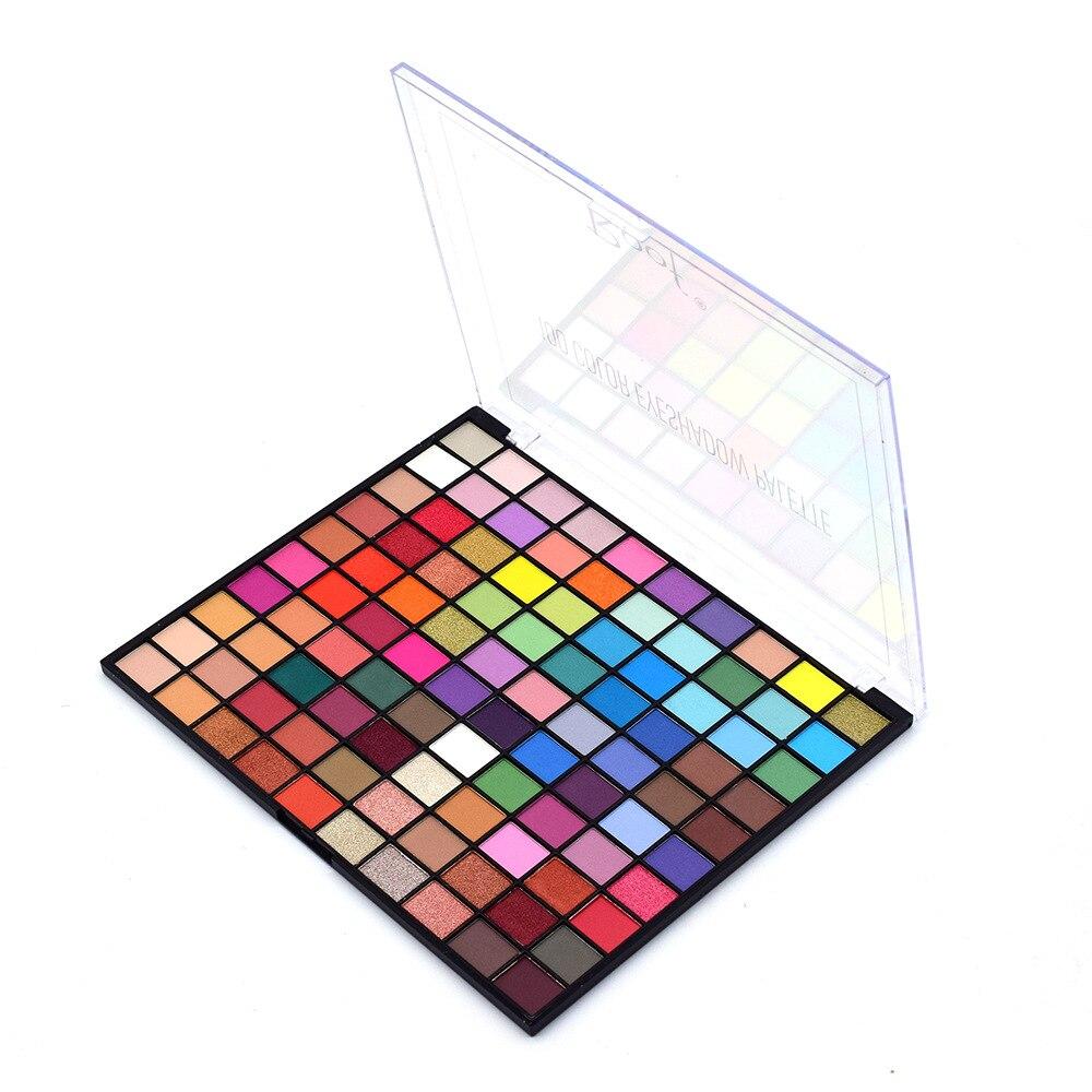 100 cor fosco brilho shimmer paleta de sombra metálico pigmentado pó sombra de olho maquiagem à prova dwaterproof água blendable nude cosméticos