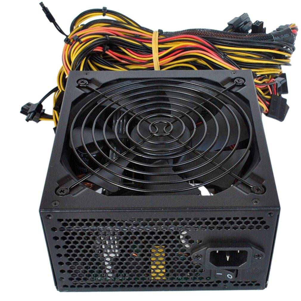 1800W/1600W/2400W PC Power Supply ATX PSU for RX470 RX580 RX570 RX560 PicoAsic Bitcoin Miner ATX Mining Machine Support 6 GPU