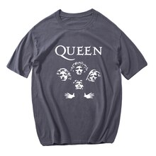 Glitter Rock Band Queen ฤดูร้อนผู้ชาย2021 Cusua Streetwear คุณภาพสูง O-Neck Aesthetic เสื้อยืด Top Tee Dropshipping
