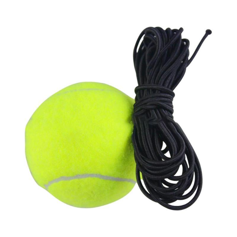 Pelotas de tenis duraderas textura clásica delicada lana de goma pelota de tenis de entrenamiento con reemplazo de cuerda para entrenador de tenis
