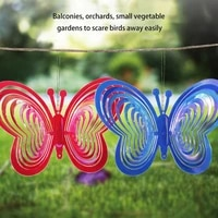 butterfly wind spinner abs wind catcher love wind chime rotating wind chime hang garden balcony decor ornament bird scarer