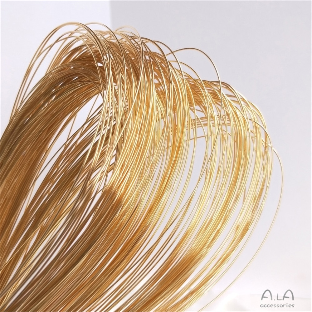 14K Gold Filled Semi-hard wire not peeling gold wire manual winding diy first jewelry material