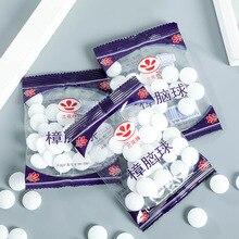 Accueil boules de naphtaline résistant à la moisissure chambre à coucher boules de camphre doux boule de mites bloc de bois 20 Capsules par sac