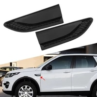 2pcs car front side fender grille vent duct louver for land rover discovery sport l550 2015 2016 2017 2018 2019 gossy black abs