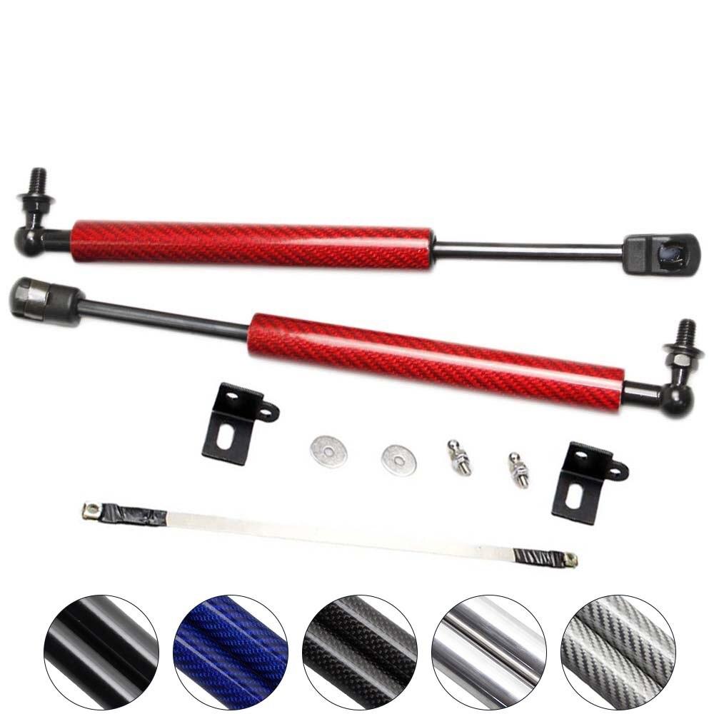 for Mazda 2 Demio DL DJ 2014-2018 Front Hood Bonnet Modify carbon fiber Gas Struts Shock Damper Lift Supports  Absorber