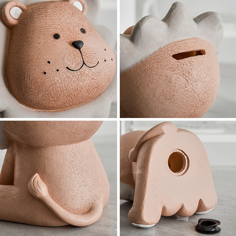Ins wind cute creative lion piggy bank cartoon piggy bank children's clothing store cashier decoration personality small jewelry  - buy with discount