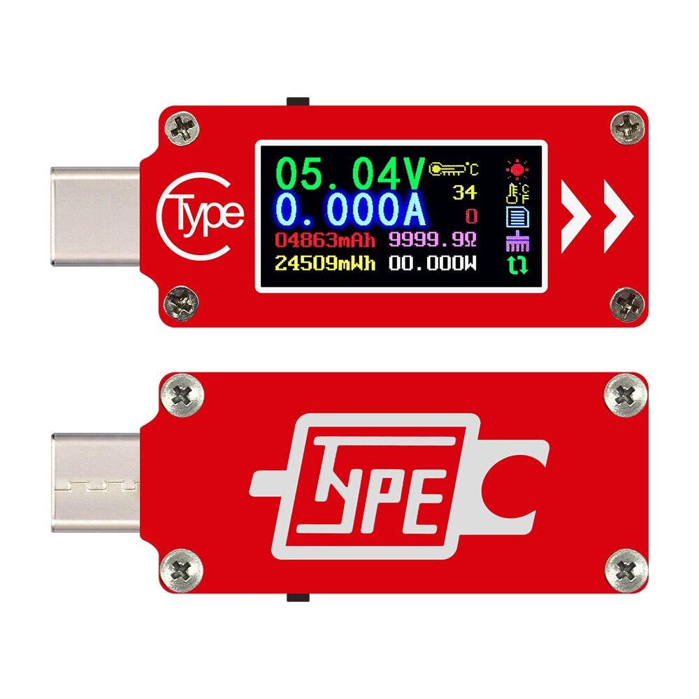 Probador USB tipo C, disparador PD, electrónica, multímetro, voltímetro, amperímetro, medidor de Factor de potencia para ordenador móvil, Banco de energía