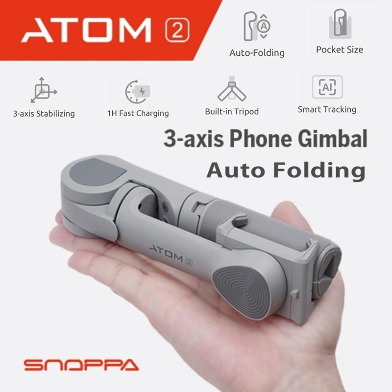Snoppa ATOM2 3-Axis Handheld Stabilizer Gimbal Wireless Blue-tooth Selfie Stick Tripod Phone Anti-Shake ATOM 2 For iPhone Huawei