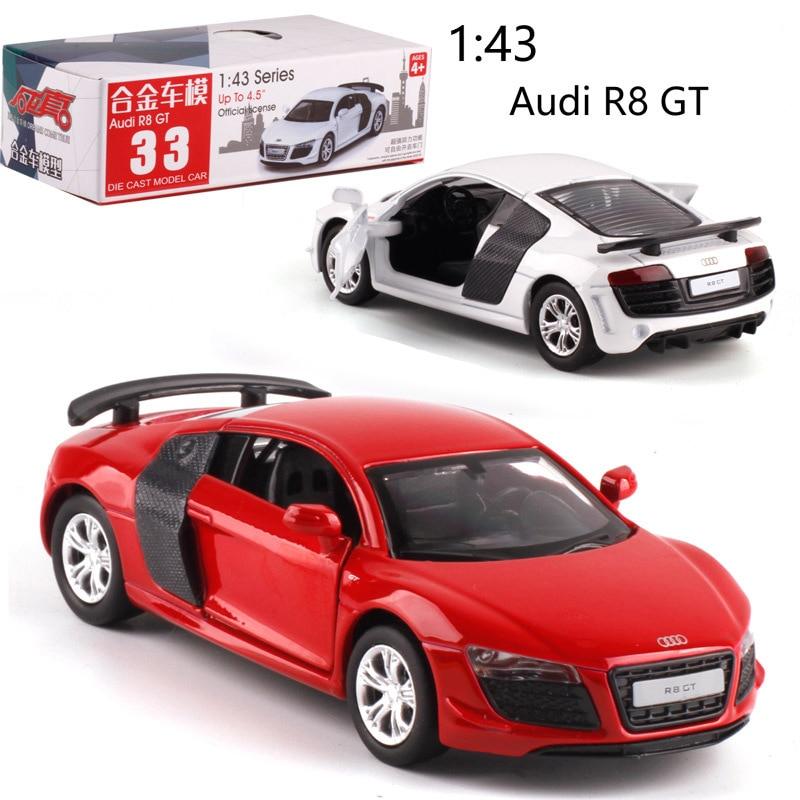 CAIPO 138 Audi R8, coches de juguete de aleación, coches de modelos, vehículos