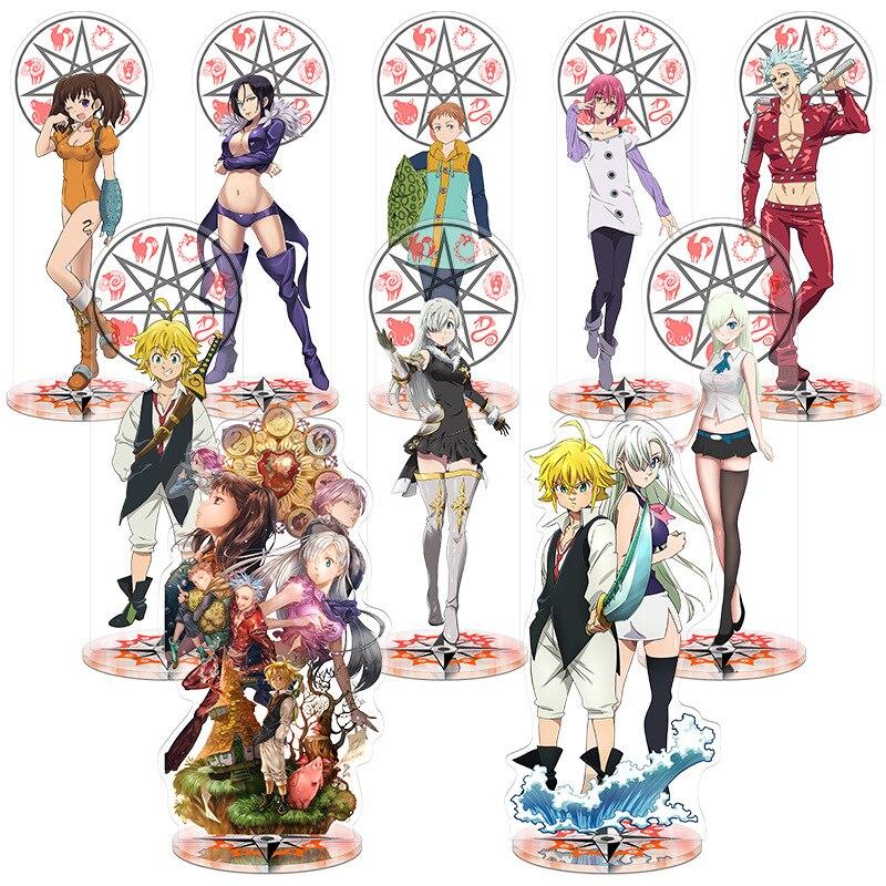 Juguete de altura de los siete errores de muerte 21cm figura de acción de Anime juguete decorativo de acrílico regalo creativo