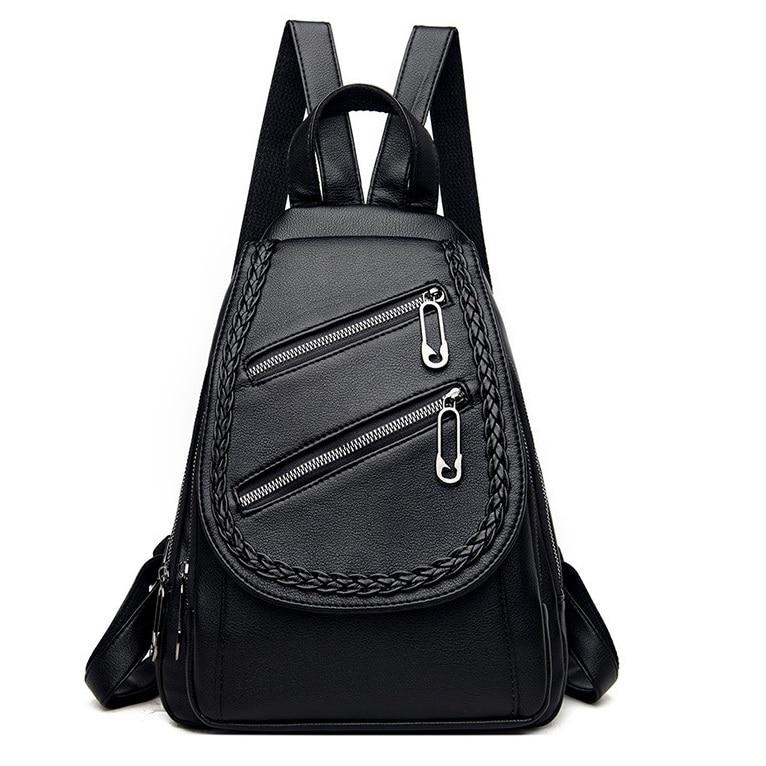 نيجيدو-حقيبة ظهر جلدية عالية الجودة للنساء ، حقيبة ظهر مدرسية عصرية للبنات ، حقائب سفر حمراء
