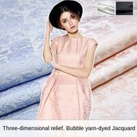 three dimensional embossed bubble yarn dyed jacquard fashion fabric sewing fabric factory shop is not out of stock